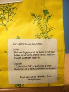 Ayuverdische thee Kapha 100gr